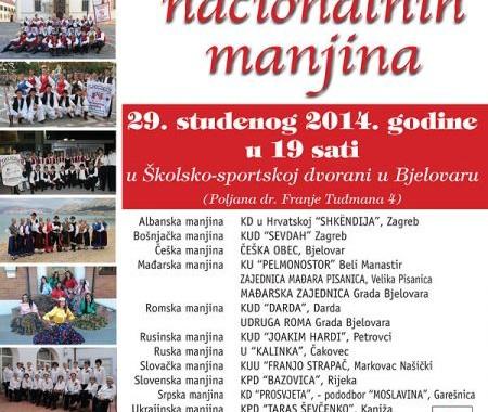 8. večer nacionalnih manjina u Bjelovaru